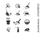 cleaning icons set.  | Shutterstock .eps vector #276258515
