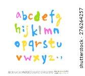 alphabet    handwritten... | Shutterstock .eps vector #276264257