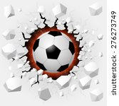 soccer ball with cracked... | Shutterstock . vector #276273749