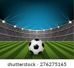 soccer ball on the field of... | Shutterstock .eps vector #276275165