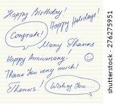 handwritten short phrases and... | Shutterstock .eps vector #276275951