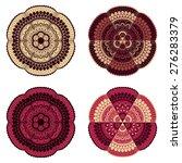 4 vector doodle floral design...   Shutterstock .eps vector #276283379