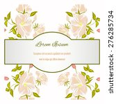 wedding invitation card with... | Shutterstock .eps vector #276285734