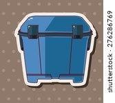 fishing box   cartoon sticker... | Shutterstock . vector #276286769