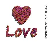 pink love and heart create by... | Shutterstock . vector #276288161