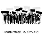 protest people crowd silhouette ... | Shutterstock .eps vector #276292514