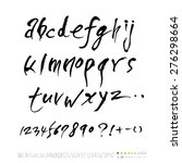 alphabet and numbers  ... | Shutterstock .eps vector #276298664