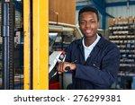 factory worker using powered... | Shutterstock . vector #276299381