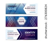 vector company banners with... | Shutterstock .eps vector #276300824