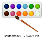 watercolor paint icon with... | Shutterstock .eps vector #276304445