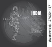 illustration of india on... | Shutterstock .eps vector #276304487