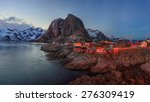 reine fishing village  lofoten  ... | Shutterstock . vector #276309419