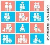 family icons set  avatar vector ... | Shutterstock .eps vector #276312644