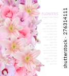 lily and rose flowers... | Shutterstock . vector #276314111