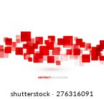 Red Transparent Squares Shapes...
