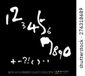 numbers   handwritten numbers   ... | Shutterstock .eps vector #276318689