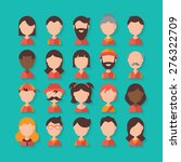avatar flat stylish icons for... | Shutterstock .eps vector #276322709