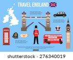 Постер, плакат: England travel background with