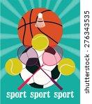 vintage sport games poster.... | Shutterstock .eps vector #276343535
