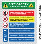 site safety starts here or site ... | Shutterstock .eps vector #276345809