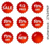 sale icons   Shutterstock .eps vector #27634969