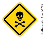 skull and bones warning sign | Shutterstock .eps vector #276351269