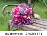 Purple Lilac And Tulips Flower...