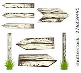 set of wooden planks. vector...   Shutterstock .eps vector #276359495