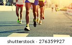marathon running race  people... | Shutterstock . vector #276359927