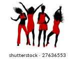 vector illustration of dancing... | Shutterstock .eps vector #27636553