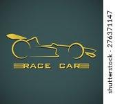 the golden of race car logo... | Shutterstock .eps vector #276371147