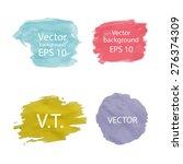 colorful watercolor blot banner....   Shutterstock .eps vector #276374309