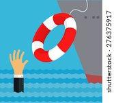 helping business survive ... | Shutterstock .eps vector #276375917