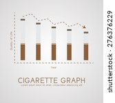 cigarette graph flat  life and... | Shutterstock .eps vector #276376229
