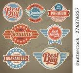 vintage label set. vector retro ... | Shutterstock .eps vector #276376337