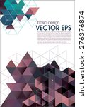 vector flyer design set. modern ... | Shutterstock .eps vector #276376874