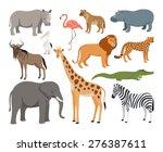 Animals Of Africa Vector Set