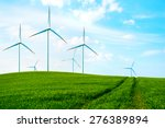 windmills in the countryside... | Shutterstock . vector #276389894