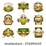 vector lables for organic... | Shutterstock .eps vector #276394145