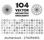 vector geometric ornaments.... | Shutterstock .eps vector #276396401
