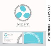 nest with bird eggs. business... | Shutterstock .eps vector #276397154