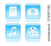 glassy multimedia files icons....