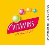 vector logo vitamins in the... | Shutterstock .eps vector #276399701