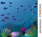 pretty underwater environment... | Shutterstock .eps vector #276401441