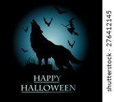 halloween vector card. vector... | Shutterstock .eps vector #276412145