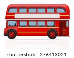 London Red Bus Vector...
