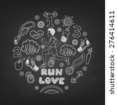 love run man vector icons set... | Shutterstock .eps vector #276414611