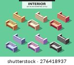 set of the isolated sofas with... | Shutterstock .eps vector #276418937