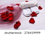 spa bowl with water  rose... | Shutterstock . vector #276419999