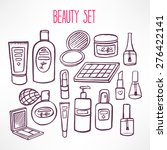 set with a variety of cosmetics ... | Shutterstock .eps vector #276422141